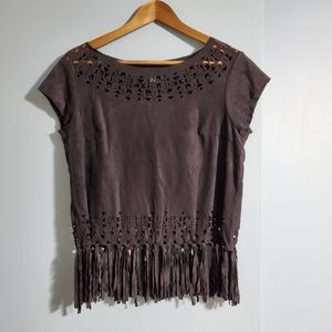 Suede Hippie Top
